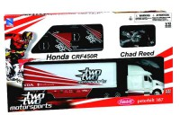 1/32 Camion team Two Two Motorsports + moto cross Honda crf450r #22 + tapis-NEW RAYNWR10485