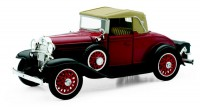 1/32 VOITURE MINIATURE DE COLLECTION CABRIOLET Chevy Sport rouge/noir-1931-NEW RAYNWR55093SS