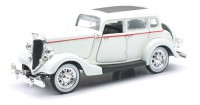 1/32 VOITURE MINIATURE DE COLLECTION Ford Fordor Deluxe blanc-1934-NEW RAYNWR55213SS
