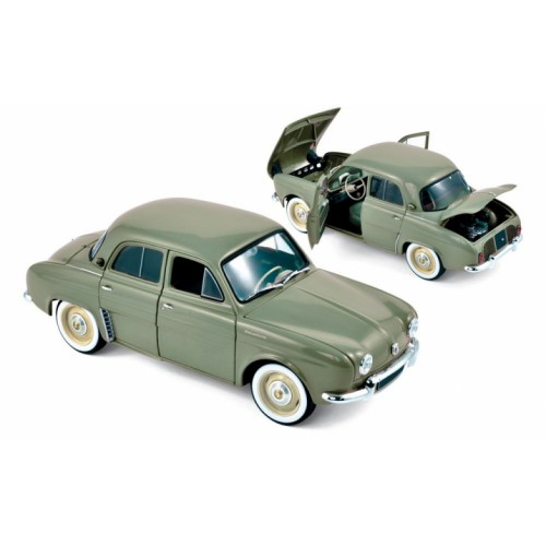 1 18 voiture miniature de collection renault dauphine vert kaki 1958 norev vente de voitures. Black Bedroom Furniture Sets. Home Design Ideas