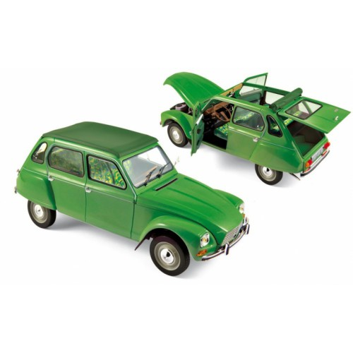 1 18 voiture miniature de collection citroen dyane 6 tuilerie vert 1975 norev vente de. Black Bedroom Furniture Sets. Home Design Ideas