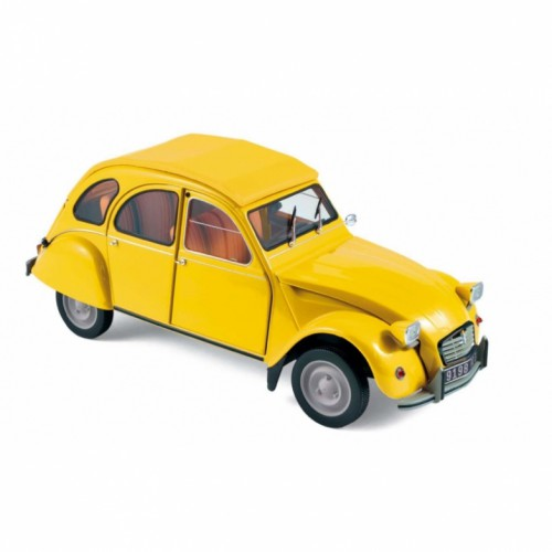1 18 voiture miniature de collection citroen 2cv 6 club jaune 1979 norev vente de voitures. Black Bedroom Furniture Sets. Home Design Ideas