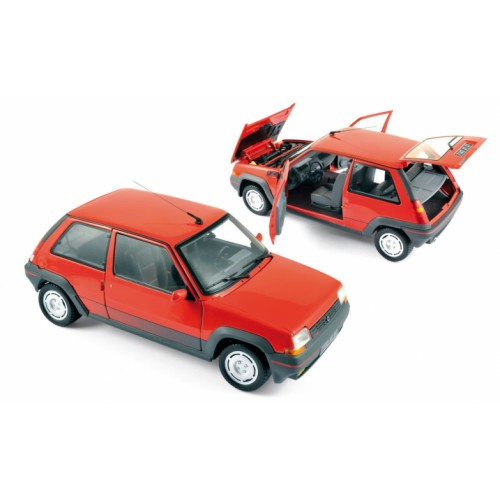 1 18 voiture miniature de collection renault super 5 gt turbo rouge 1986 norev vente de. Black Bedroom Furniture Sets. Home Design Ideas