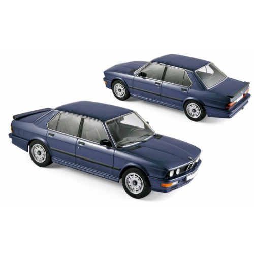 1 18 voiture miniature de collection bmw m535 i bleu m tallis 1987 norev vente de voitures. Black Bedroom Furniture Sets. Home Design Ideas