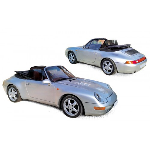 1 18 voiture miniature de collection porsche 911 cabriolet argent 1994 norev vente de voitures. Black Bedroom Furniture Sets. Home Design Ideas