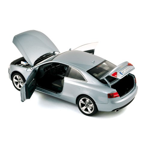1 18 voiture miniature de collection audi a5 coupe 2007 gris norev vente de voitures. Black Bedroom Furniture Sets. Home Design Ideas
