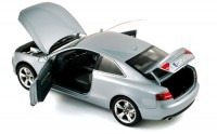 1/18 VOITURE MINIATURE DE COLLECTION AUDI A5 COUPE 2007 GRIS NOREV