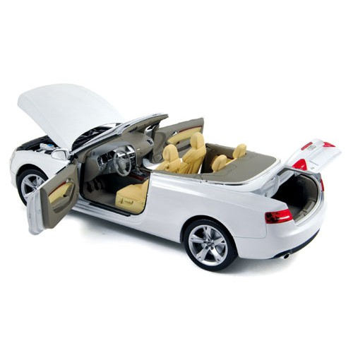 1 18 voiture miniature de collection audi a5 cabriolet 2009 blanc norev vente de voitures. Black Bedroom Furniture Sets. Home Design Ideas