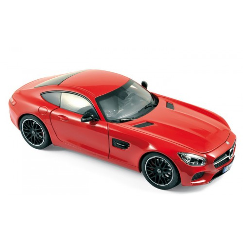 1 18 voiture miniature de collection mercedes amg gt rouge 2015 norev vente de voitures. Black Bedroom Furniture Sets. Home Design Ideas