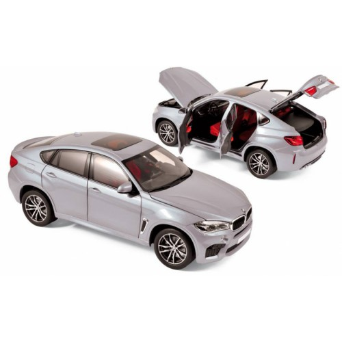 1 18 voiture miniature de collection bmw x6 m argent 2016 norev vente de voitures miniatures. Black Bedroom Furniture Sets. Home Design Ideas