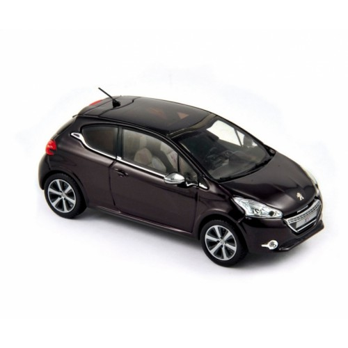 1 43 voiture miniature de collection peugeot 208 xy violet fonc 2012 norev vente de voitures. Black Bedroom Furniture Sets. Home Design Ideas
