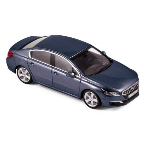 1 43 voiture miniature de collection peugeot 508 bleu 2014. Black Bedroom Furniture Sets. Home Design Ideas