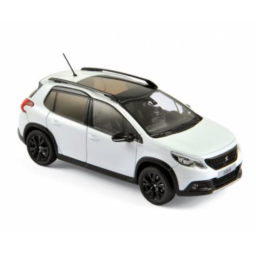 1 43 voiture miniature de collection peugeot 2008 blanc perl 2016 norev vente de voitures. Black Bedroom Furniture Sets. Home Design Ideas