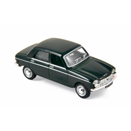 1 87 ho voiture miniature peugeot 204 vert antique interieur noir 1966 norev vente de voitures. Black Bedroom Furniture Sets. Home Design Ideas
