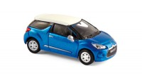 1/87 VOITURE MINIATURE DE COLLECTION CITROEN DS3 2010 BLEU/BLANC-NOREV