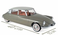 1/12 CITROËN VOITURE MINIATURE DE COLLECTION  CITROËN DS 19 1959 - MARRON GLACÉ & BLANC CARRARE-NOREV121562
