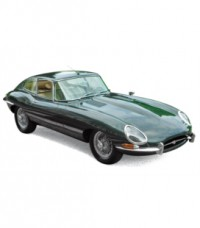 1/12 JAGUAR VOITURE MINIATURE DE COLLECTION JAGUAR E-TYPE COUPÉ 1961-VERT-NOREV122710