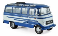 1/18 MINIBUS MINIATURE DE COLLECTION Mercedes O319 bus bleu/beige-1957-NOREVNOR183412