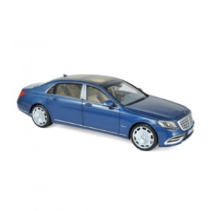 1/18 MERCEDES VOITURE MINIATURE DE COLLECTION Mercedes-Maybach S 650 2018 - Blue metallic-NOREV183425
