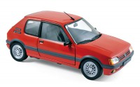 1/18 VOITURE MINIATURE DE COLLECTION Peugeot 205 GTI 1.6 rouge Vallelunga-1988-NOREV184853
