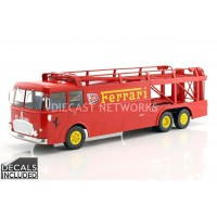 1/18 FIAT BARTOLETTI 306/2 - FERRARI JCB 1970-ROUGE Decals A Poser Cars Not Included-NOREV187701