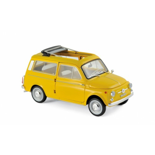 1 18 voiture miniature de collection fiat 500 giardiniera jaune 1968 norevnor187724 vente de. Black Bedroom Furniture Sets. Home Design Ideas