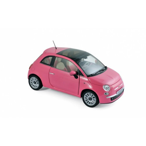 1 18 fiat 500 c rose toit ouvrant 2010 norev vente. Black Bedroom Furniture Sets. Home Design Ideas
