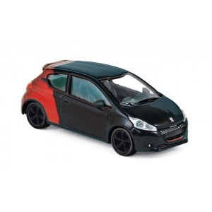 1/64 3-INCHES VOITURE MINIATURE Peugeot 208 GTi 30th noir/rouge-2014-NOREVNOR310606