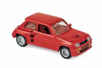 1/87 HO VOITURE MINIATURE DE COLLECTION Renault R5 Turbo rouge métallisé-1980-NOREVNOR510524