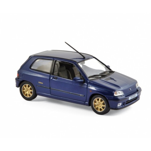 1 43 voiture miniature de collection renault clio williams bleu 1996 norev vente de voitures. Black Bedroom Furniture Sets. Home Design Ideas