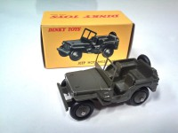 1/43 VEHICULES FORCES DE L'ORDRE MILITAIRE JEEP HOTCHKISS WILLYS-DINKY TOYS ATLAS-NOREV