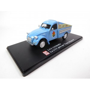 1/43 VOITURE MINIATURE DE COLLECTION Citroën 2CV Pick Up Trans Afrique 94-AUTO PLUS IXO