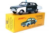 1/43 Ford Taunus Police VEHICULE FORCES DE L'ORDRE DINKY TOYS EDITION ATLAS NOREVN°551