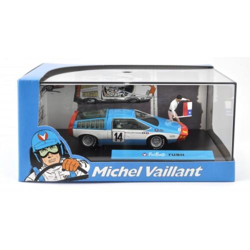 1 43 diorama voiture miniature de collection michel vaillant le mans rush ixo altaya vente de. Black Bedroom Furniture Sets. Home Design Ideas