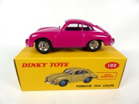 1/43 PORSCHE VOITURE MINIATURE DE COLLECTION Porsche 356A Coupé rose-DINKY TOYS DeAgostini