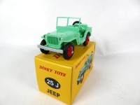 1/43 JEEP WILLYS VOITURE MINIATURE DE COLLECTION Jeep Willys verte fluo-DINKY TOYS DeAgostini 25J