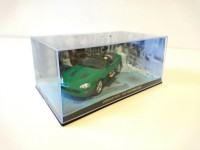 1/43 DIORAMA VOITURE MINIATURE DE COLLECTION Jaguar XKR JAMES BOND 007 Meurs un autre jour-Eaglemoss / Universal Hobbies-DY006
