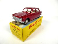 1/43 Peugeot 204 rouge vermillon-DINKY TOYS 510-Réédition Editions Atlas-