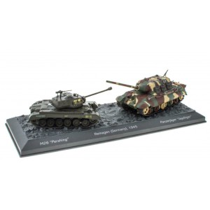 "1/72 Coffret de 2 Chars Militaires-M26 Pershing vs Pz. Jagdtiger-Collection DeAgostini ""World of Tanks - Roll Out"""