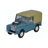 1/76 VEHICULES MINIATURE DE COLLECTION LAND ROVER SERIE 1 88 CANVAS BLEUE-OXF76LAN188023