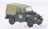 1/43 VEHICULE MILITAIRE LAND ROVER LIGHTWEIGHT NATIONS UNIES 2 TONS-OXFORD43LRL001