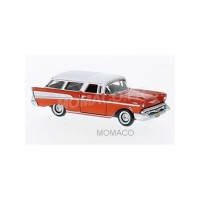 1/87 HO VOITURE MINIATURE CHEVROLET NOMADE 1957 ROUGE/BLANC-OXFORD87CN57002