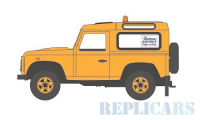 1/76 VEHICULE MINIATURE LAND ROVER DEFENDER 90 SECURITE AEROPORT-OXFORD76LRDF005