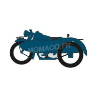 1/148 MOTO FORCES DE L'ORDRE MILITAIRE MINIATURE BSA MOTORCYCLE AND SIDECAR RAC-OXFORDNBSA008