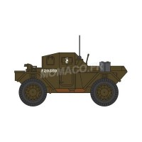 1/148  VEHICULES FORCES DE L'ORDRE MILITAIRE DINGO SCOUT CAR 10TH MOUNTED RIFLES 10TH ACB POLISH-OXFORDNDSC002
