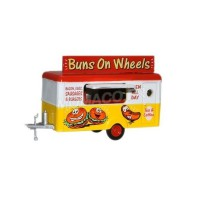 1/148 REMORQUE PUBLICITAIRE MINIATURE DE COLLECTION REMORQUE BUNS ON WHEELS-OXFORDNTRAIL006