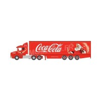 1/148 CAMION PUBLICITAIRE MINIATURE DE COLLECTION SCANIA T CAB BOX TRAILER COCA-COLA-OXFORDNTCAB007CC