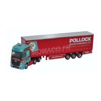 "1/148 MERCEDES-BENZ ACTROS CURTAINSIDE ""POLLOCK""OXFORDNMB002"