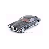 1/18 VOITURE MINIATURE DE COLLECTION STUTZ BLACKHAWK COUPE 1971 NOIRE-IXOPREMIUMXIXOPR18003