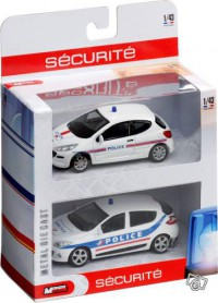 1/43 lot de 2 voitures de police Mondo Motors